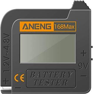 MISHITI 168Max universell digital batterikapacitetstestare för litium 18650 AA 9V knapp