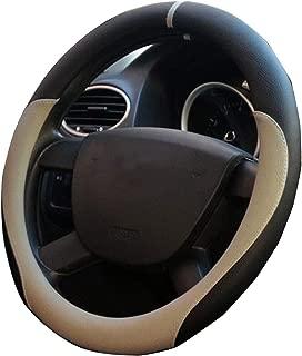 XiXiHao 2018 New Multicolor Steering Wheel Cover for Volkswagen vw Jetta Passat Beetle Tiguan Golf cc GTI Beige