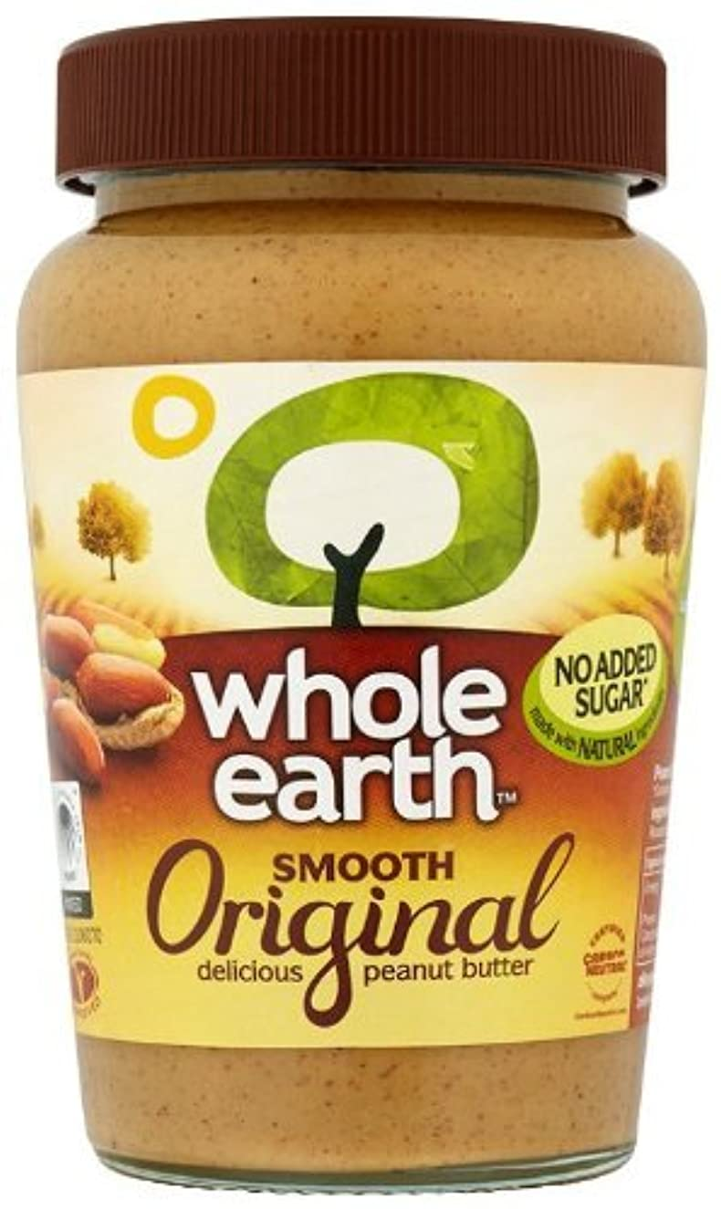 (2 Pack) - Whole Earth - Original Smooth Peanut Butter   340g   2 PACK BUNDLE