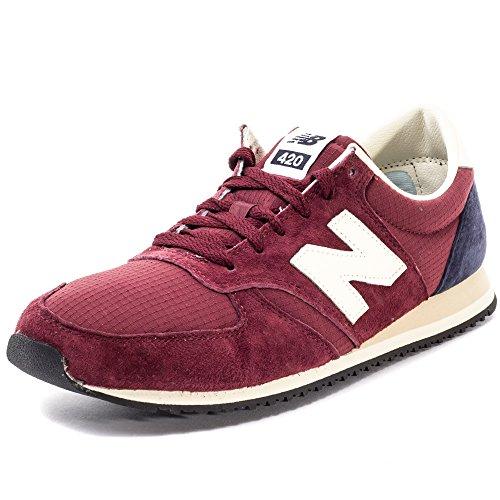 New Balance U420v1 - zapatillas de talle de bajo para hombre, (rojo), 6 UK
