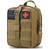 5. MEQI Medical MOLLE Tactical Pouch, EMT First Aid IFAK Rip-Away Utility Pouch for Camping Hunting Hiking Home Car and Adventures (Khaki)