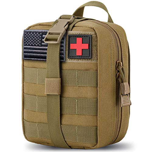 MEQI Medical MOLLE Tactical Pouch, EMT First Aid IFAK Rip-Away Utility Pouch for Camping Hunting Hiking Home Car and Adventures