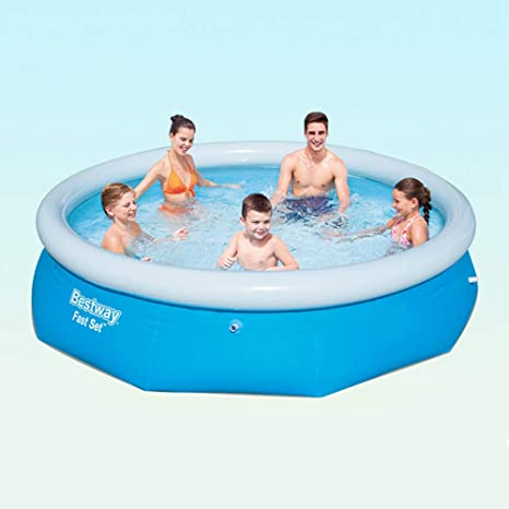 Quick Set Inflatable Above Ground Swimming Pool With Pump Mat 300 X 76 Cm Amazon Ca Home Kitchen