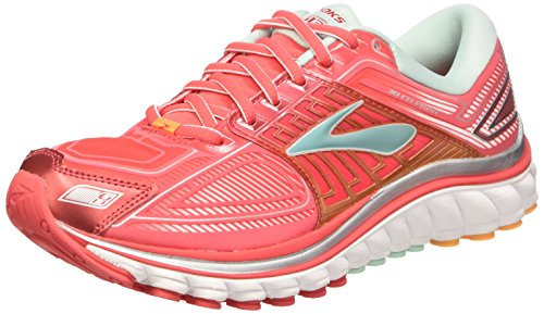 Brooks Glycerin 13 W Scarpe da corsa, Donna, Rosa (Pink (Hibiscus/BlueTint/BlazingOrang)), 38