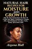 Natural Hair Recipes For Moisture and Growth: Step By Step Instructions On How