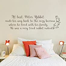 Wall Decal Decor Peter Rabbit Wall Decal - Baby Nursery Wall Quote Decal Baby Room Kids Bedroom Decal(Black, 7
