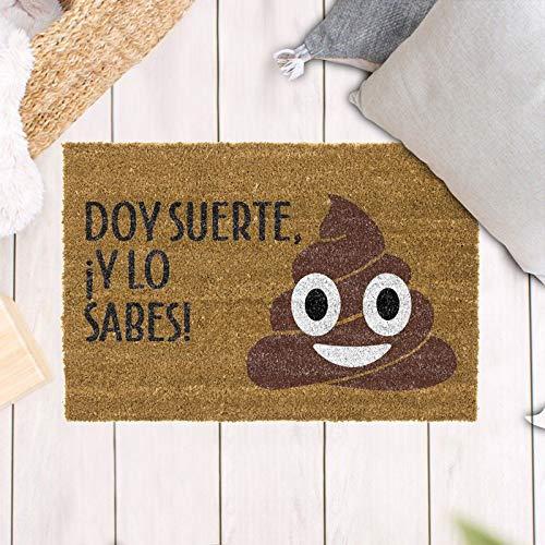 TIENDA EURASIA Felpudos Entrada Casa Originales y Divertidos - Material : Fibra de Coco HQ con Base...