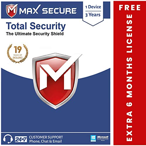Max Secure Total Security Platinum for Windows – 1PC, 3 Years + Extra 6 months Subscription Free (Email Delivery in 2 Hrs – No CD ) with Ransomware Protection