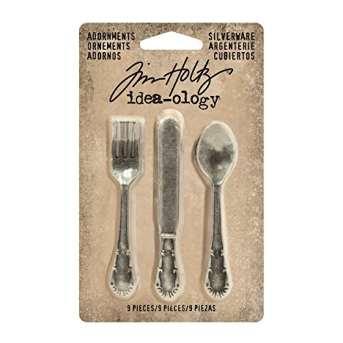 Advantus Idea-Ology–Metal Adornments 2.5-Inch–Antiguo níquel Cubiertos