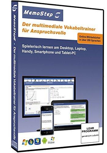MemoStep6 - der multimediale Vokabeltrainer für Anspruchsvolle: Mobil lernen an Laptop, Notebook, PDA und Handy