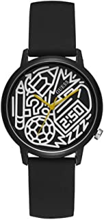 Guess Unisex Adult TIME-TO-GIVE Watch Black