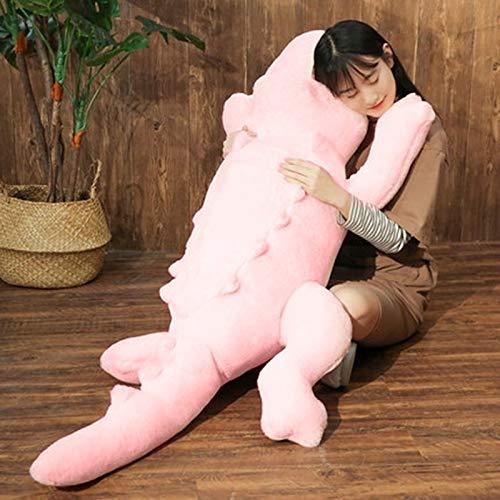 HUOQILIN Krokodil knuffel pop kussen poppen pop naar bed lange kussen gift (Color : Pink, Size : 170cm)