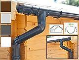 Dachrinnen/Regenrinnen Set | Satteldach (2 Dachseiten) | GD16 | in 4 Farben! (Komplettes Set bis 3.50 m, Anthrazit)