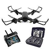 Myconvoy Zusammenlegbare Kamera-Drohne, 4K Zusammenlegbare -HD-Kamera-Drohne,Dual-Kamera-Drohne - Behält Die Höhe Bei, Start / Landung Mit Einem Knopfdruck (White)