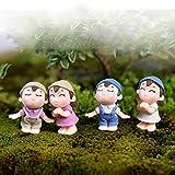 PA Dekofigur, 2 Stück, Junge Mädchen, Kinder, Paar, Miniatur-Ornamente zum Basteln, Landschaft,...