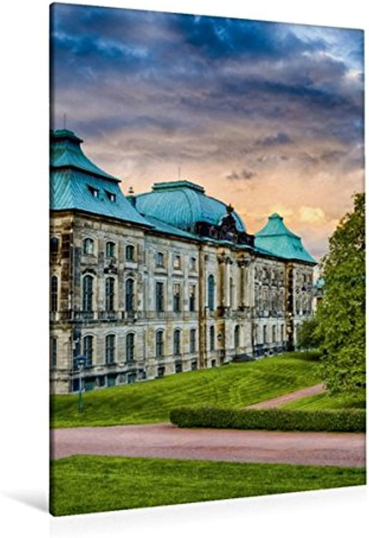 Calvendo Premium Textil-Leinwand 80 cm x 120 cm hoch, Das Japanische Palais   Wandbild, Bild auf Keilrahmen, Fertigbild auf echter Leinwand, Leinwanddruck Orte Orte