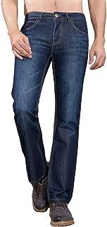 Durable Men's Jeans Straight Fit,Fashionable Sit at Waist Jeans for Boy,Classic Denim Pleat Front Pants