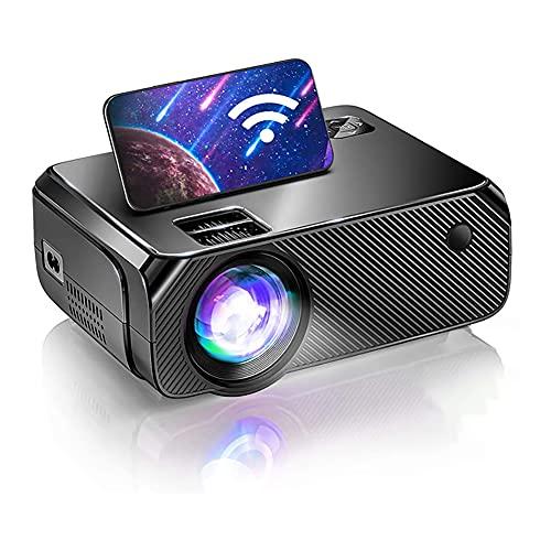 LFJG Mini Proyector WiFi Nativo HD Actualizado, Proyector De TV De 200 Lúmenes ANSI, 1280X720p Nativo, Proyector WiFi Portátil Inalámbrico para Juegos Y Películas Al Aire Libre,Same Screen Version