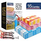 Storage Master 16 Vacuum Storage Bags, Space Saver Bags,...