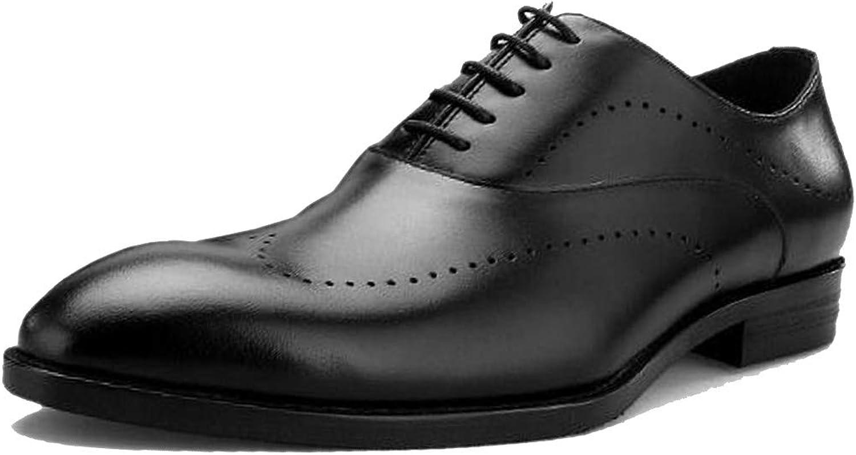 England Man Pointed Leather schuhe Geschnitzte Business Formal Wear Wear Derby Gentleman Englisch Dunkelbraun Schwarz Handmade Dress Party  Professionelles integriertes Online-Einkaufszentrum