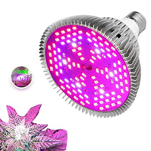 [New Generation] Pflanzenlampe, LED 120W Pflanzenlicht, Pflanzenwachstumslampe mit Aluminiumabdeckung E26 E27 Sockel AC85-265V Vollspektrumlampe für Zimmerpflanzen, Blumen, Gemüse - 120 Lampenperlen