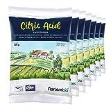 Nortembio Ácido Cítrico 3,5 Kg (7x500g), Polvo Anhidro, Natural, 100% Puro, para producción ecológica. E-Book Incluido.