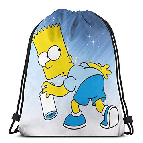BFGTH sac de cordon Ba_Rt Si_Mpson Drawstring Backpack Rucksack Shoulder Bags Gym Bag
