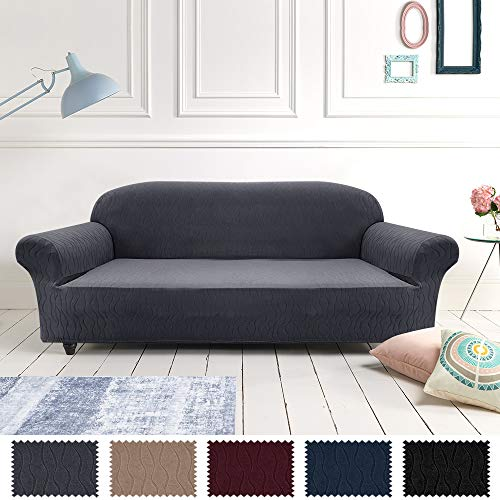 Jinchan - Funda para sofá (elastano), diseño de Río, Moderno, gris, Sofá