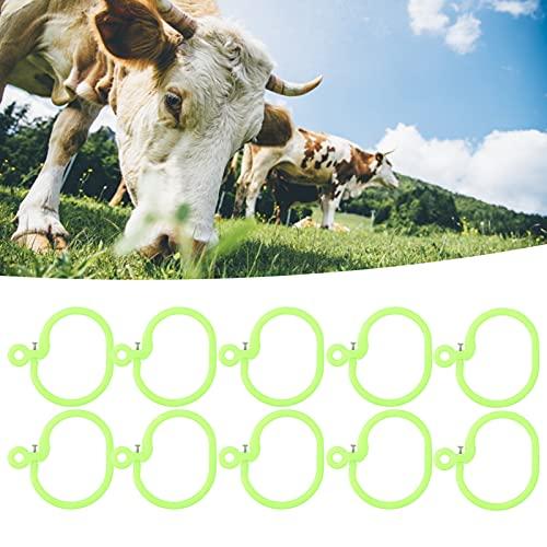 Anneau de Nez de bétail, Installation Fixe à vis, Accessoire de Ferme en Plastique, Anneau de Nez de Vache pour Animal pour Le bétail