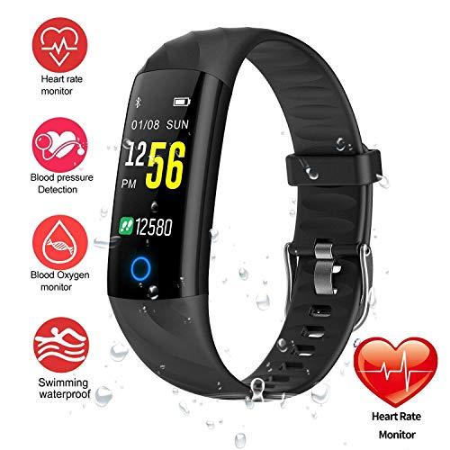 HitTopss Fitness Tracker Watch Smart Bracelet IP68 Waterproof Swim Watch Activity Tracker with Heart...
