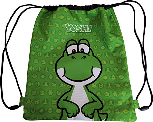 Zaino Sacca Coulisse Yoshi di Super Mario Bros Green 62876-V