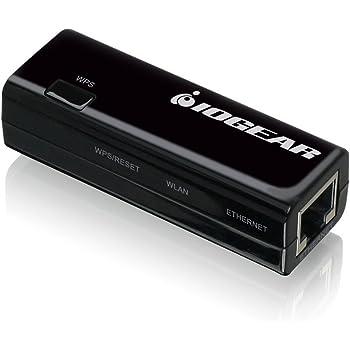 IOGEAR Ethernet-2-WiFi Universal Wireless Adapter, GWU637,Black