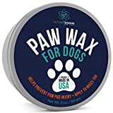PET CARE Sciences Dog Paw Wax, Nose Cream and Dog Paw Balm. Protects, Soothes and Repairs Delicate Paws and Snouts, Protection for Hot Pavements, Vanilla Scent, Made in The USA, 2 Oz Tin