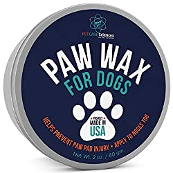 Amazing Dog Paw protectors to try right now! These are some of the best dog paw wax to protect dogs from cracking due to summer's heat, allergies, or winter snow