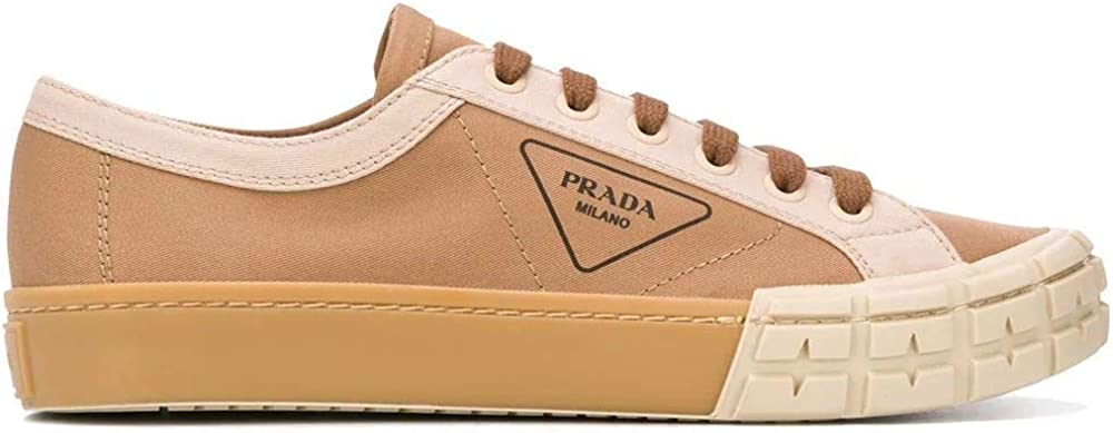 Prada luxury fashion sneakers da uomo, in cotone e pelle 2EG30289CF0ZYR