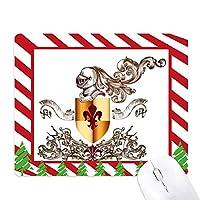 ヨーロッパの中世の騎士の鎧のエンブレム ゴムクリスマスキャンディマウスパッド