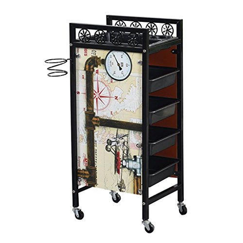Xiao Jian- Rolling cart - Beauty Salon kinderwagen Rack Tool Cart Barber Shop Multi-tool Winkel Winkel Retro Rolling car