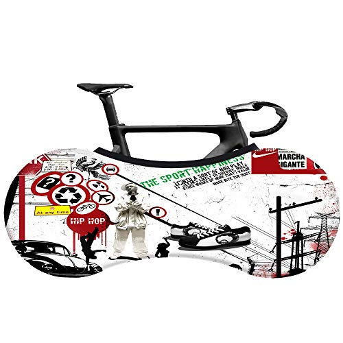 Funda protectora para rueda de bicicleta de interior, funda de tela elástica, para bicicleta de montaña, bicicleta de carretera, mantiene los suelos y paredes limpios (D)