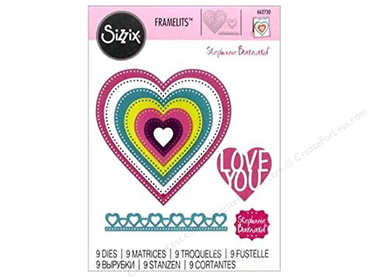 Sizzix Framelits, Hearts Dotted