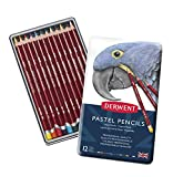 Derwent Pastel Pencils, 4mm Core, Metal Tin, 12 Count (32991)