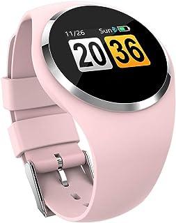 Pulsómetros Pantalla De 1.0 Pulgadas Reloj Inteligente Pulsera Rastreador De Ejercicios Mujeres Rastreador De Ejercicios Ritmo Cardíaco Deporte Monitor De Sueño Podómetro Reloj Inteligente Rosa