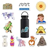 RipDesigns - 14 Cute Animal Stickers for Water Bottles, Laptops (Series 1)