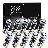 Grandview 10pcs Bleu T5 Ampoules LED 74 70 37 2721 3528 1-3030-SMD pour Intérieur de la Voiture Compteur de Vitesse Tableau de Bord Instrument Indicateur de Jauge de la Lumière du Panneau de Lampe