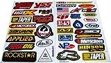 Racing Gear Decal Sticker Mx Motocross Dirt Bike ATV 2 Sheets #R203 by Rockstar