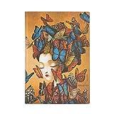 Paperblanks - Agenda flessibile con copertina morbida, 13 mesi, 2020-2021, Madame Butterfly, un giorno per pagina, 130 x 180 mm