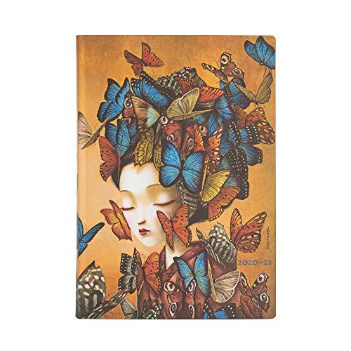 Paperblanks Agende Flexi a Copertina Morbida di 13 Mesi 2020-2021 2021 Madame Butterfly   Giornaliera   Midi (130 × 180 mm)
