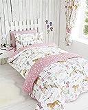 Bettwäsche-Set, Pferde-Motiv, Mädchen, Bettbezug & Kissenbezüge, für Einzelbett