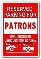 レトロスタイルノスタルジック広告壁標識8X12駐車保留無許可車引きずり、反射金属標識面白い警告標識ホームセキュリティ標識