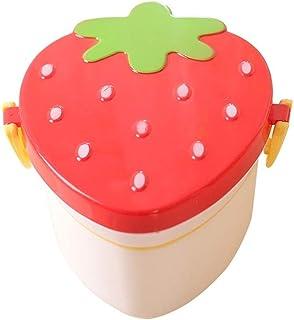 Zfl-flsfh Bento Boxes, Bento Box حاويات الغداء للأطفال الغداء مربع الغذاء حاويات التسرب والدليل على شكل الفراولة مربع الغد...