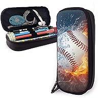 水と火の野球 ペンケース ペンポーチ 筆箱 おしゃれ 大容量 化粧ポーチ ペン 色鉛筆 文具 収納 多機能ケース
